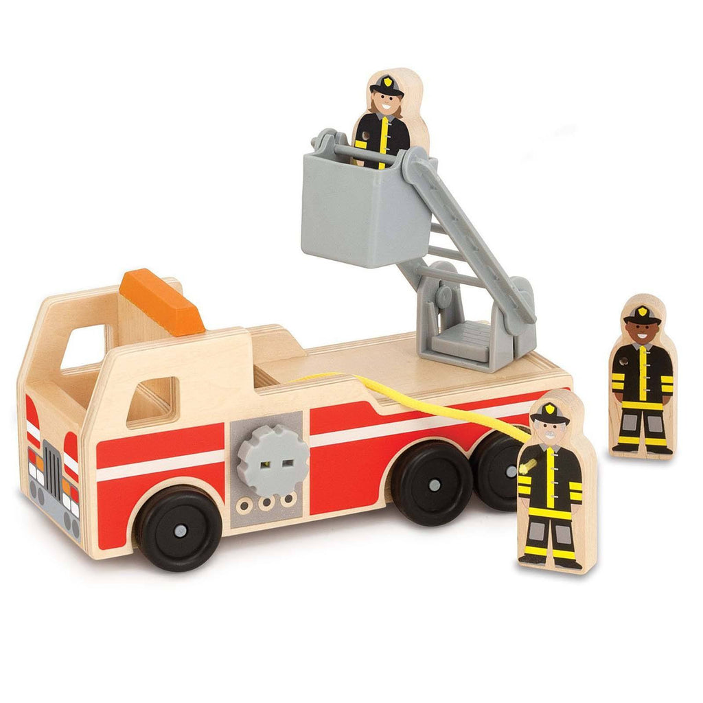 Traditional Toys - Melissa And Doug Classic Toy Wooden Fire Truck