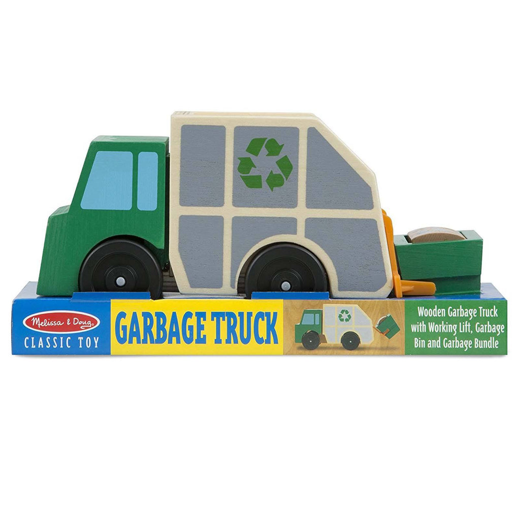Melissa And Doug Classic Toy Wooden Garbage Truck