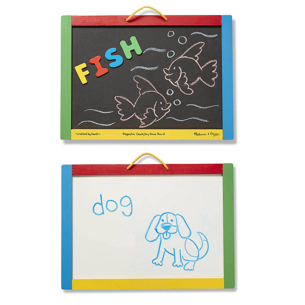 Melissa And Doug Classic Toy Wooden Magnetic Chalk And Dry-Erase Board