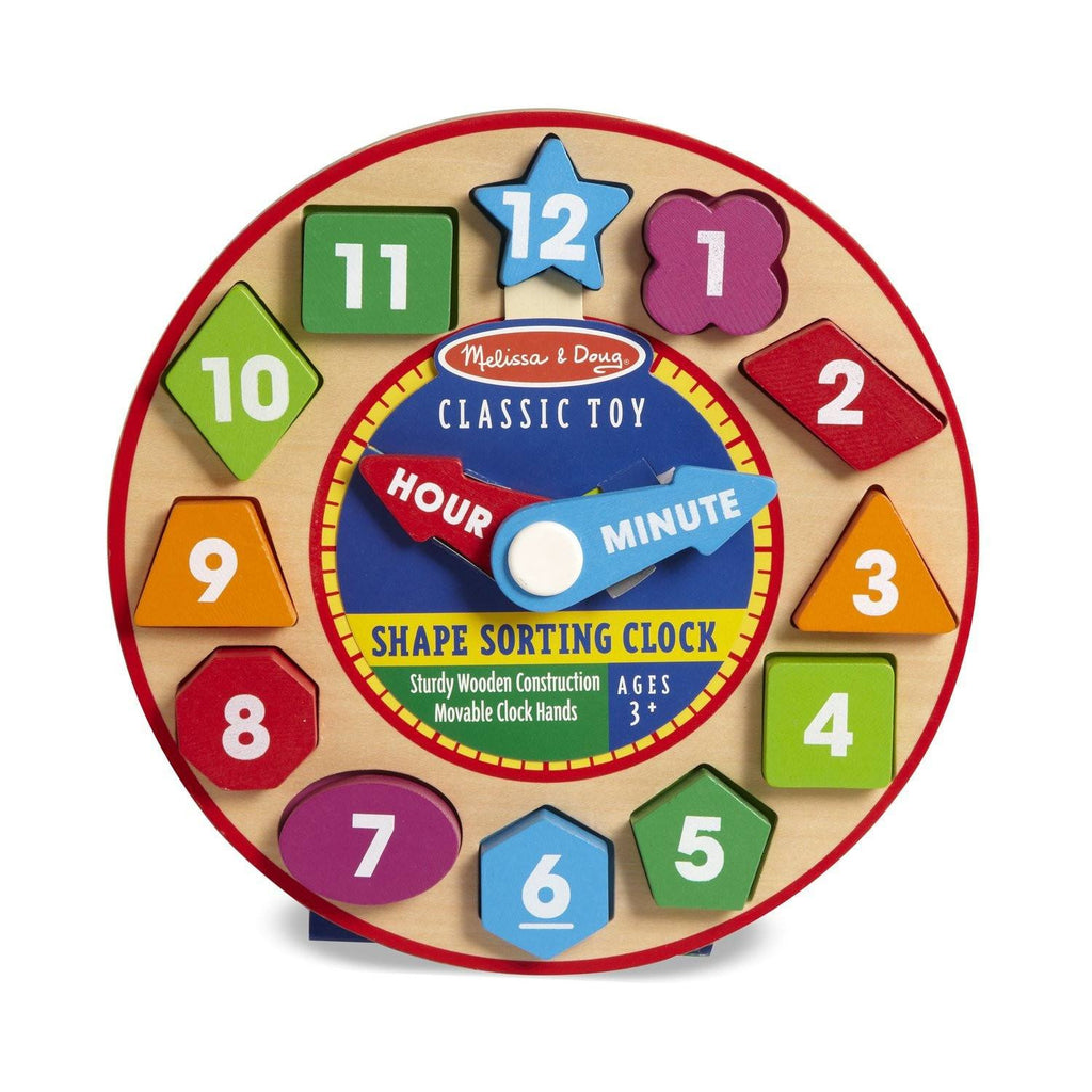Traditional Toys - Melissa And Doug Classic Toy Wooden Shape Sorting Clock
