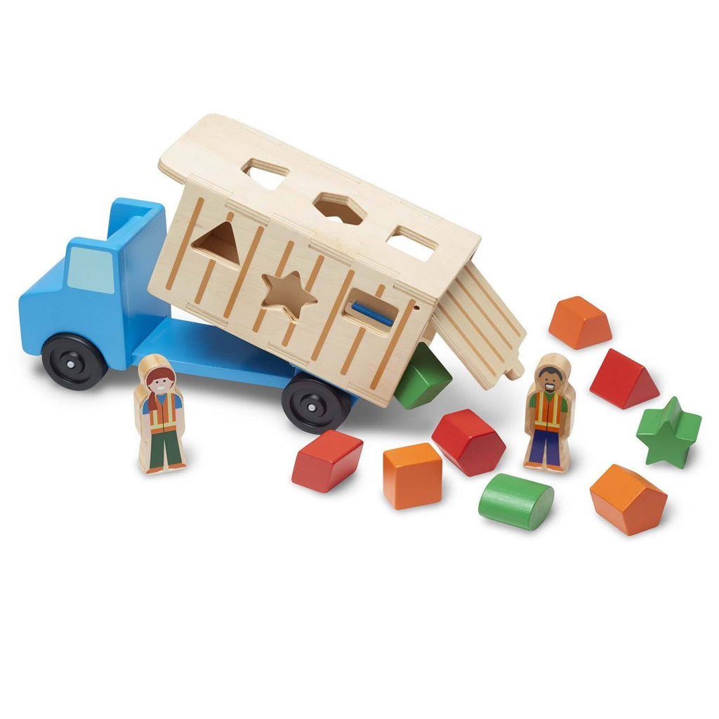 Traditional Toys - Melissa And Doug Classic Toy Wooden Shape Sorting Dump Truck