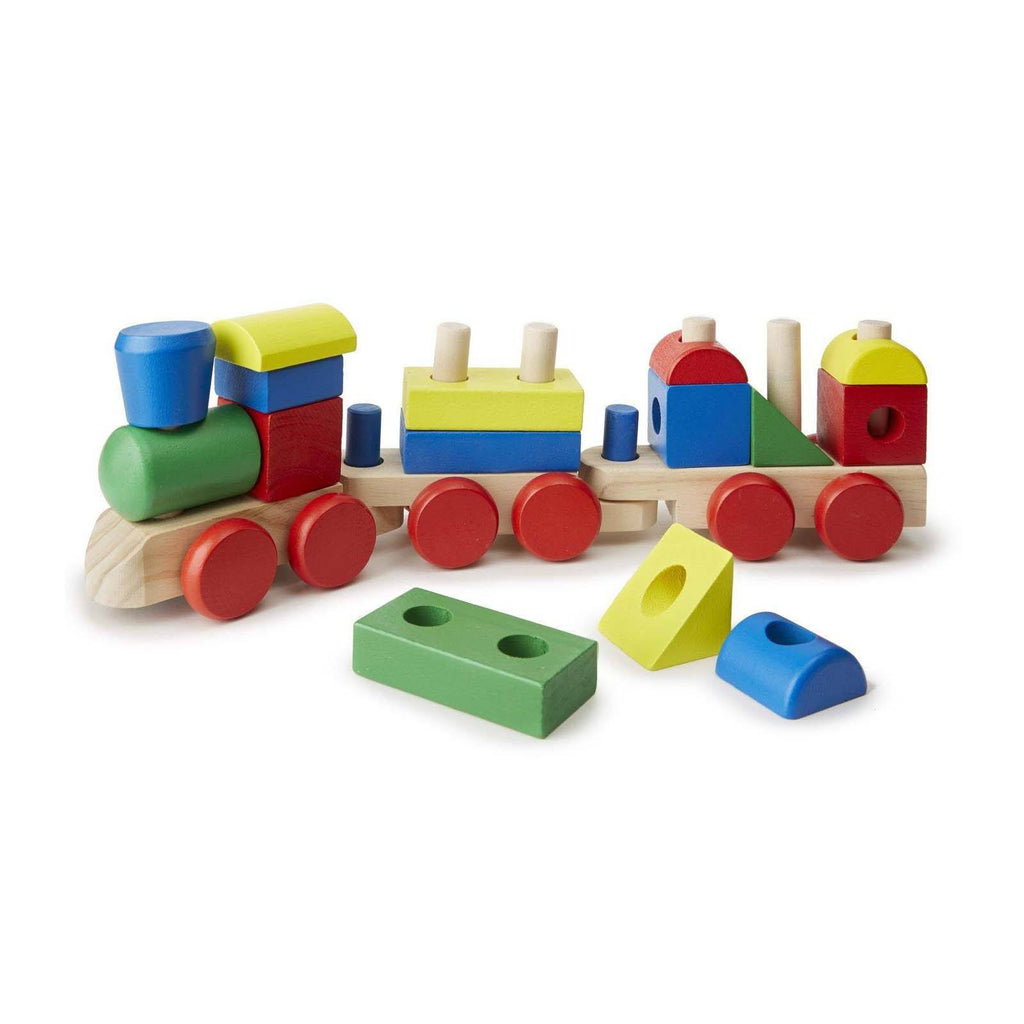Melissa And Doug Classic Toy Wooden Stacking Train Play Set