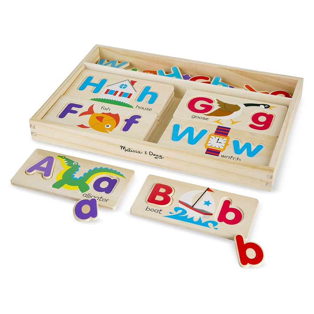 Melissa And Doug Classic Wooden ABC Picture Boards Set