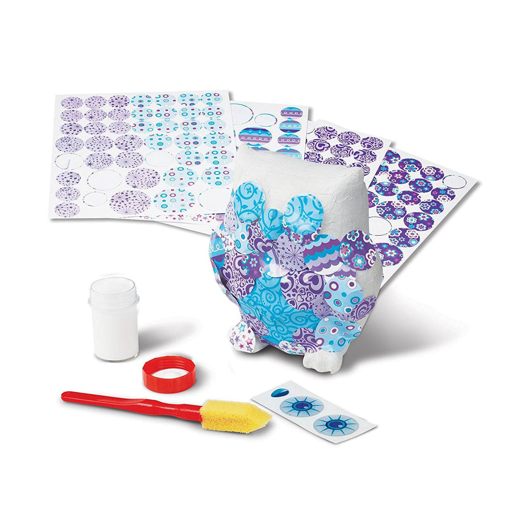 Melissa And Doug Decoupage Made Easy Owl Craft Set
