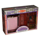 Traditional Toys - Melissa And Doug Doll House Furniture Bedroom Set