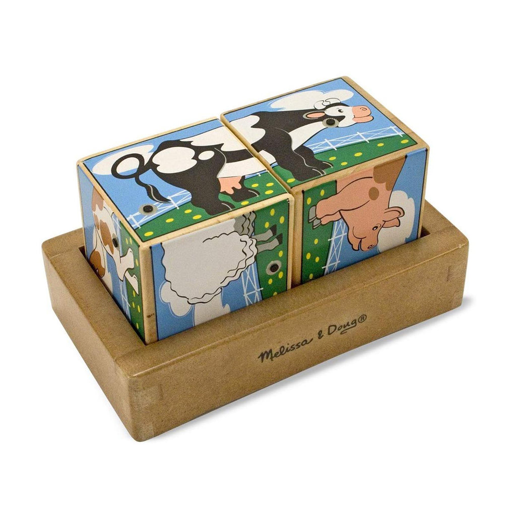 Melissa And Doug Farm Wooden Sound Blocks