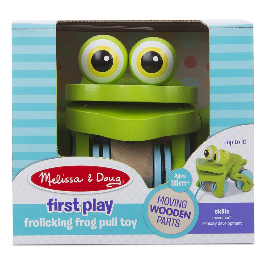 Melissa And Doug First Play Frolicking Frog Pull Toy