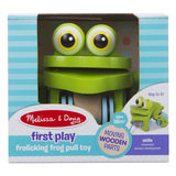 Traditional Toys - Melissa And Doug First Play Frolicking Frog Pull Toy