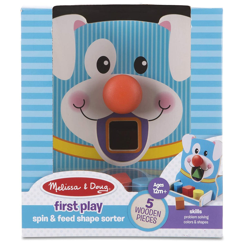 Melissa And Doug First Play Spin And Feed Shape Sorter
