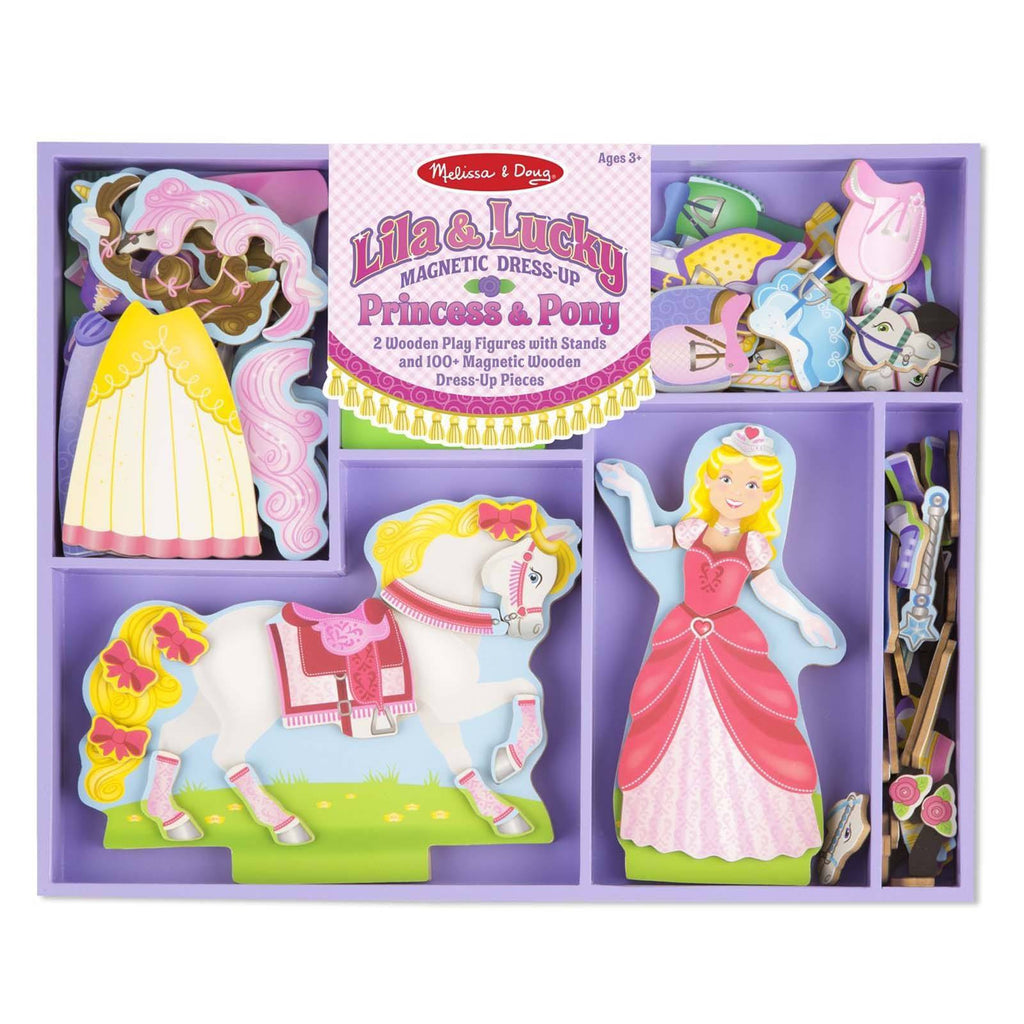Traditional Toys - Melissa And Doug Lila And Lucky Magnetic Dress Up Set