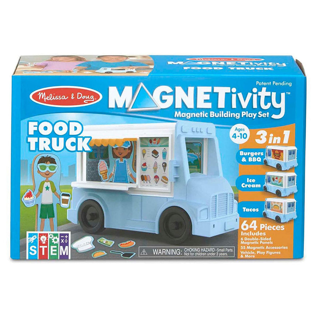 Melissa And Doug Magnetivity Food Truck Play Set