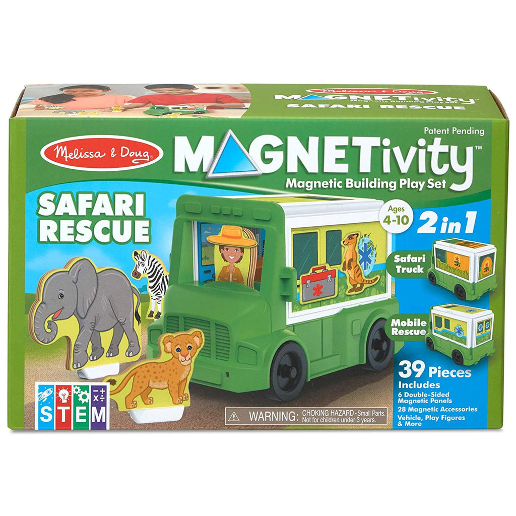 Traditional Toys - Melissa And Doug Magnetivity Safari Rescue Play Set