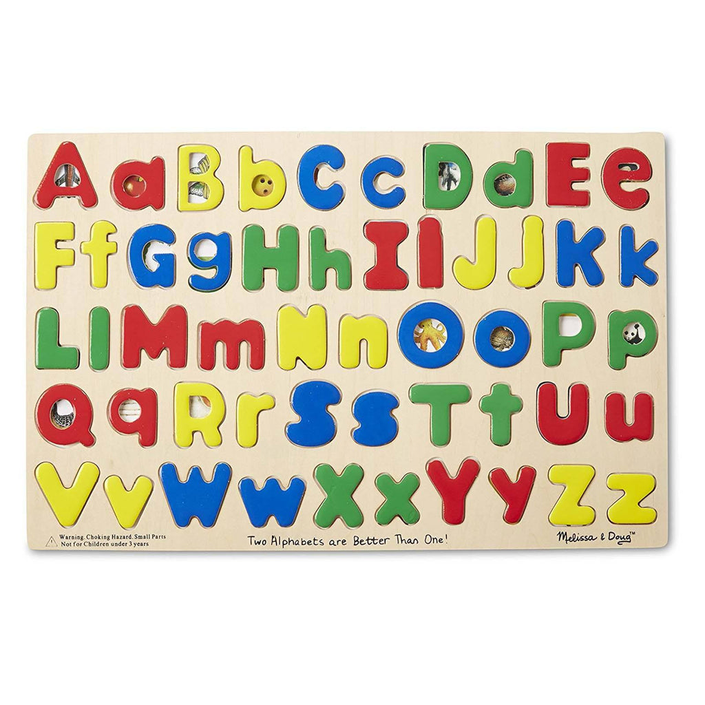 Melissa And Doug Two Alphabets Are Better Than One Puzzle