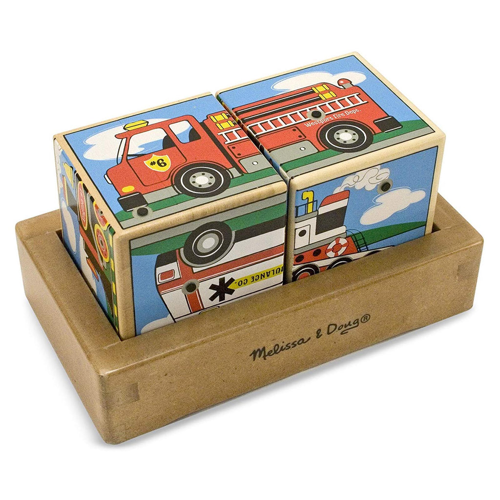 Melissa And Doug Vehicle Wooden Sound Blocks