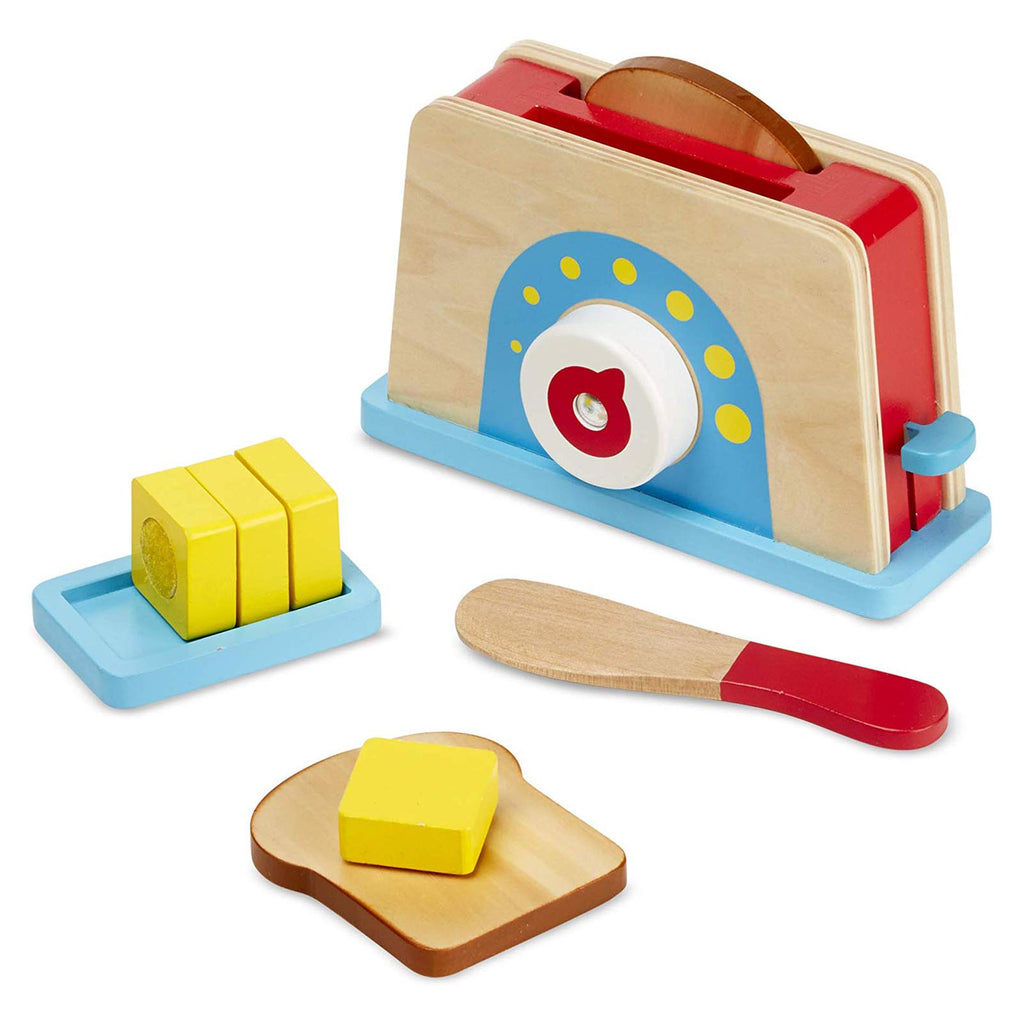 Melissa And Doug Wooden Bread And Butter Toast Set