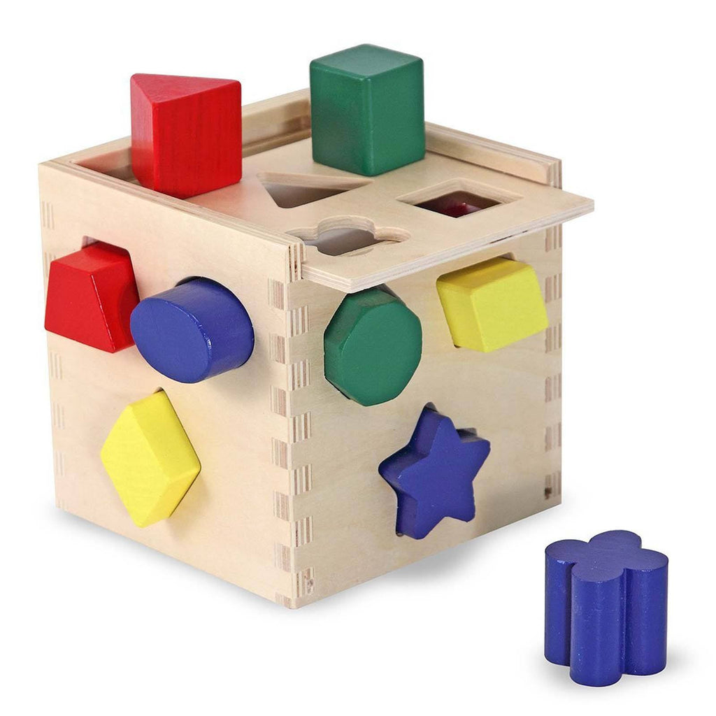 Traditional Toys - Melissa And Doug Wooden Classic Toy Shape Sorting Cube