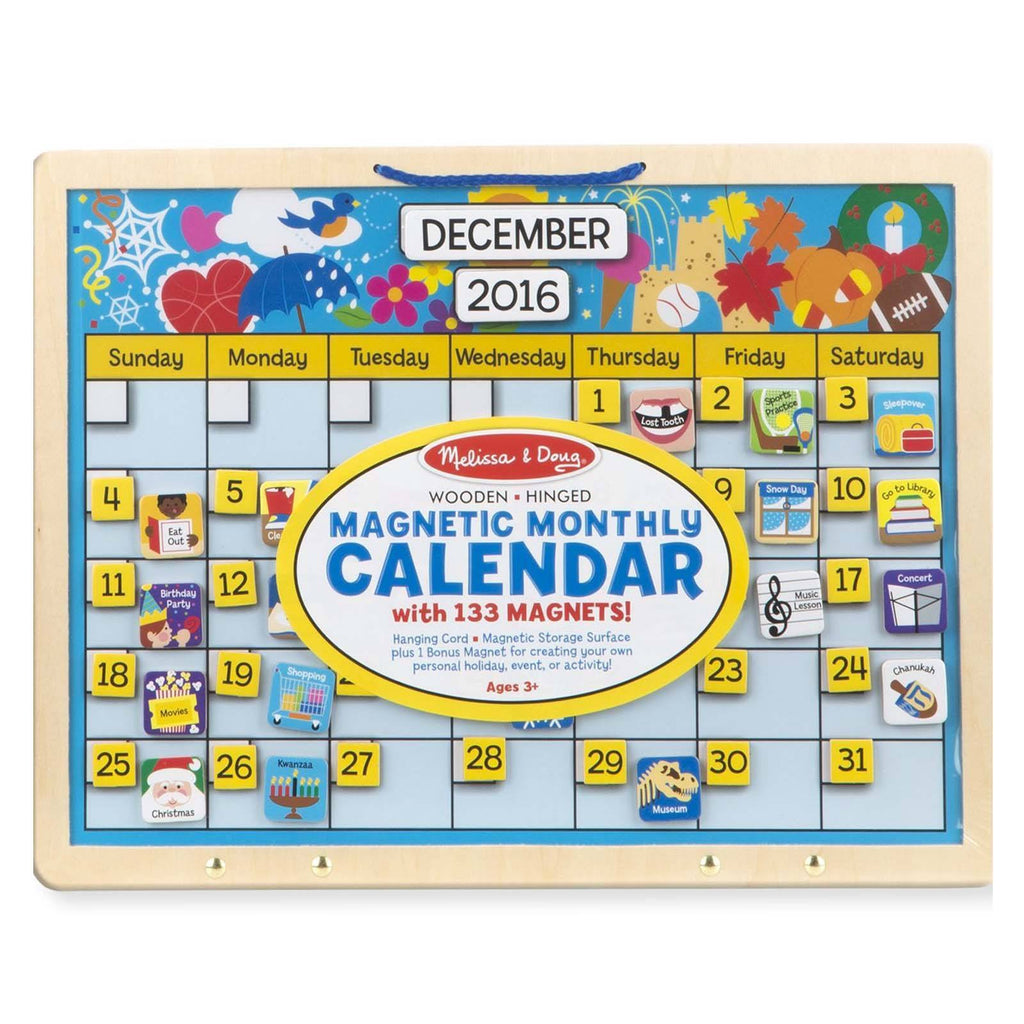 Melissa And Doug Wooden Magnetic Monthly Calendar Set
