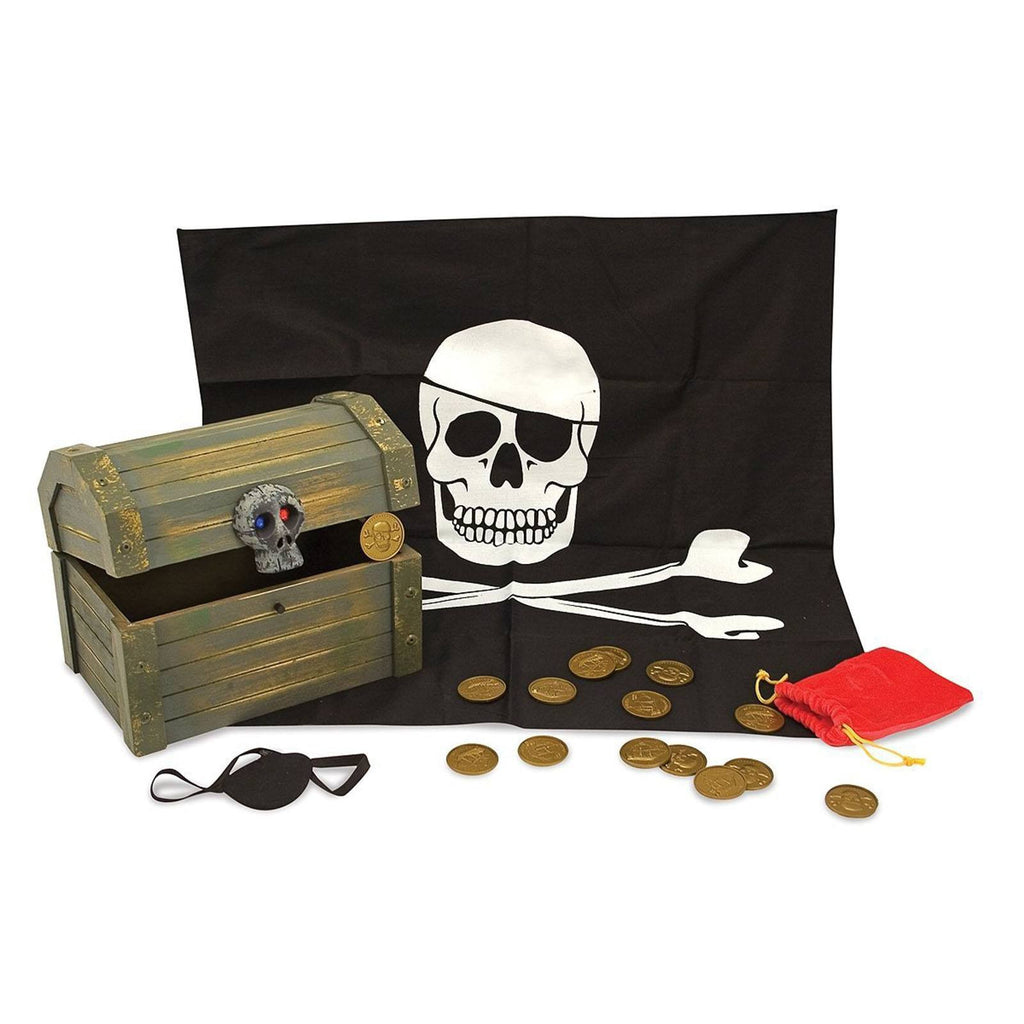 Traditional Toys - Melissa And Doug Wooden Pirate Chest
