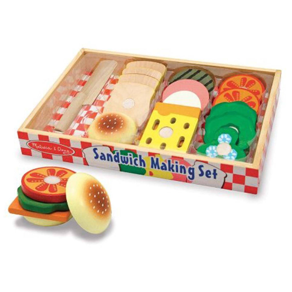 Traditional Toys - Melissa And Doug Wooden Sandwich Making Play Set