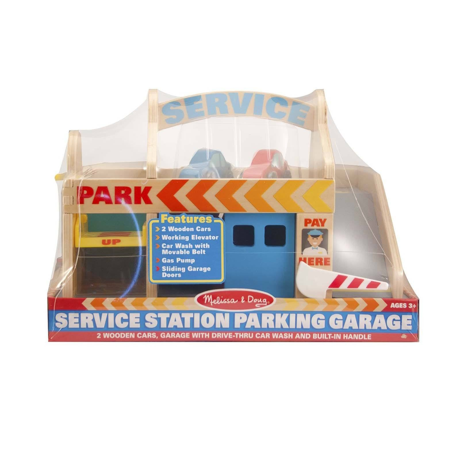 Wooden toys classic car wash garage kids car play sets radar melissa and doug wooden service station parking garage play set rubansaba