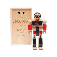 Traditional Toys - Playhard Heroes Spruce Wooden Action Figure