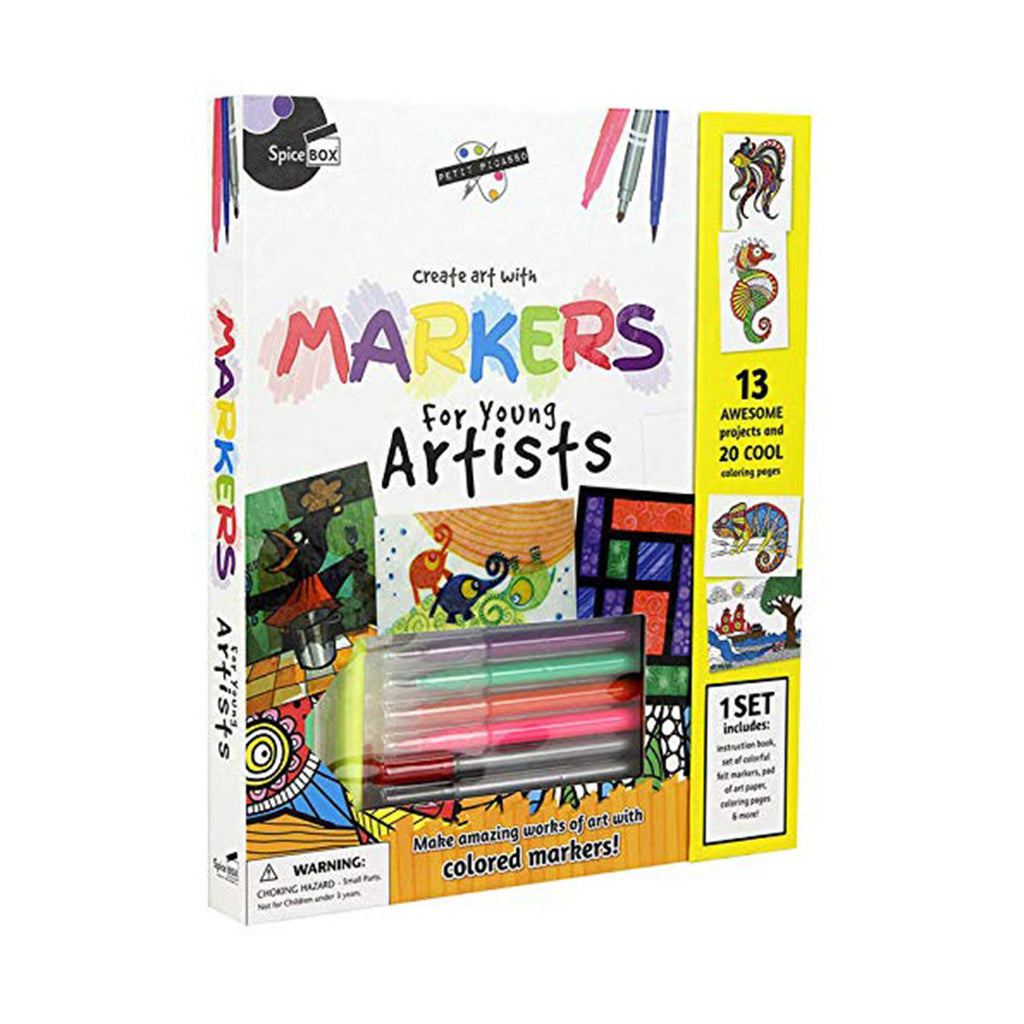 Spice Box Colored Markers For Young Artists Set