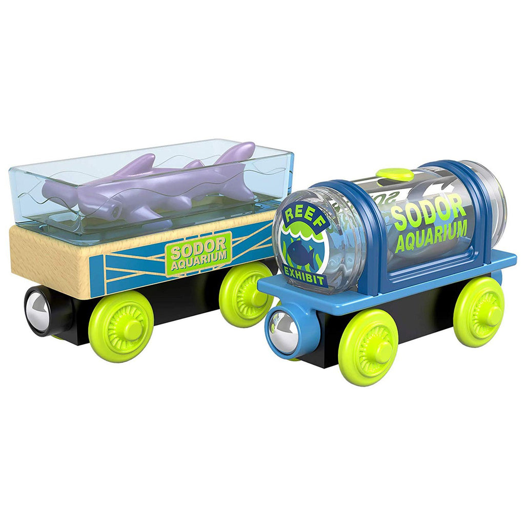 Thomas And Friends Wood Aquarium Cars Train Set