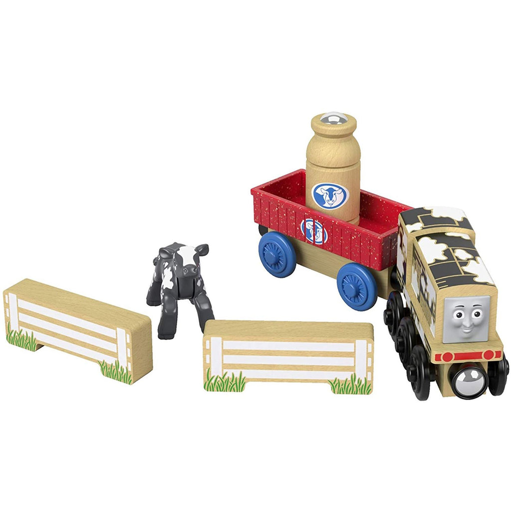 Thomas And Friends Wood Diesel's Dairy Drop Off Train Set