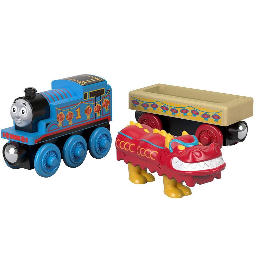 Thomas And Friends Wood Thomas And Chinese Dragon Train Set