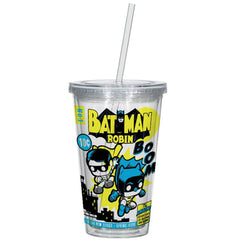 Funko DC Comics Batman And Robin 16 oz. Acrylic Travel Cup - Radar Toys