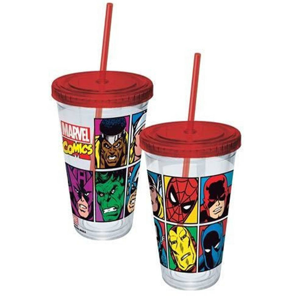 Marvel Comics Faces Grid Acrylic 16 oz. Travel Cup