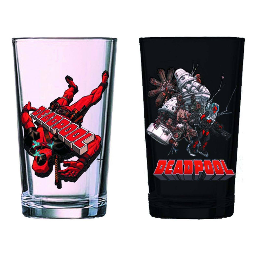 Marvel Deadpool PX Exclusive Pint 2 Glass Set