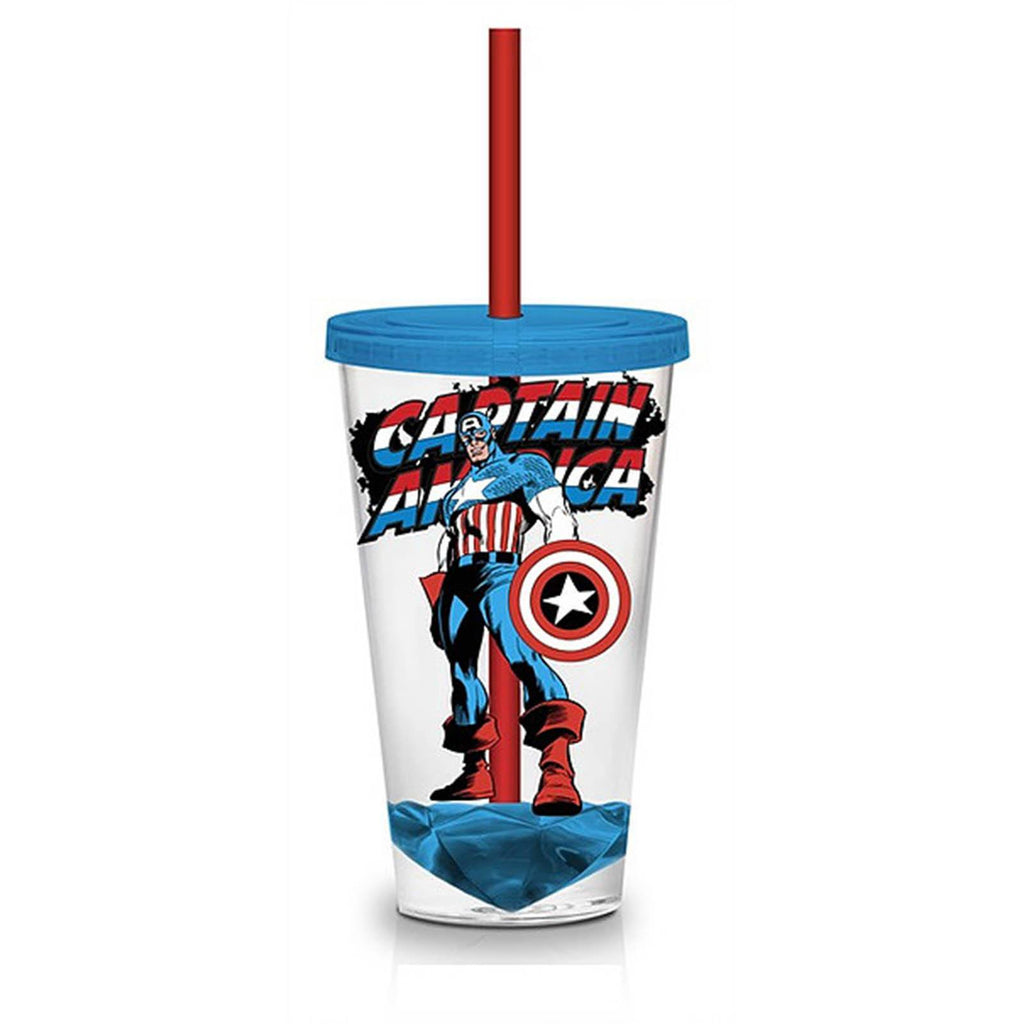 Marvel Retro Captain America 18 oz. Carnival Travel Cup