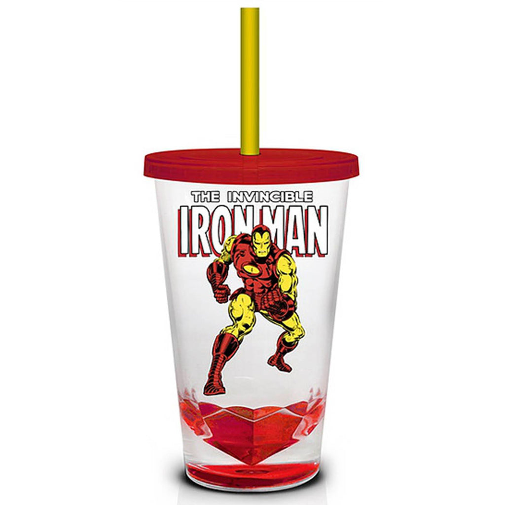 Marvel Retro Iron Man  18 oz. Carnival Travel Cup - Radar Toys