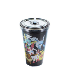 Travel Cups - Pokemon Group Black 18 Oz. Carnival Cup