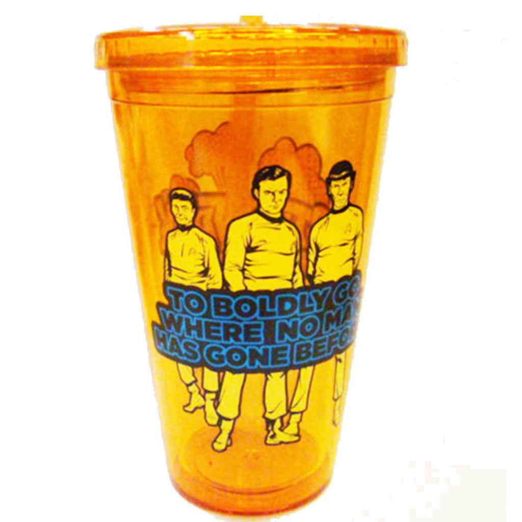 Star Trek Boldly Go Where No Man Has Gone Before Stances 16 oz. Travel Cup