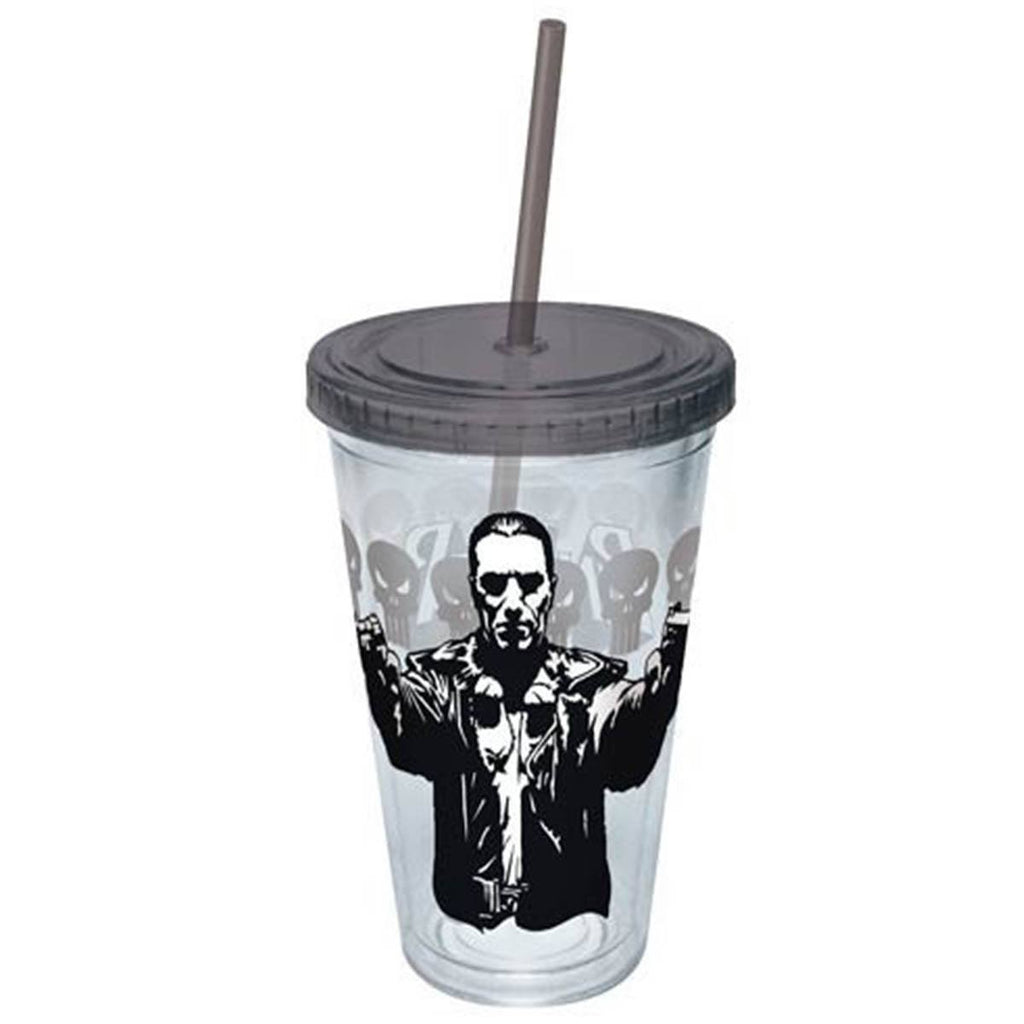 The Punisher Guns Drawn Acrylic 16 oz. Travel Cup - Radar Toys