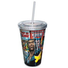 Wolverine Comic Covers Wrap Acrylic 16 oz. Travel Cup - Radar Toys