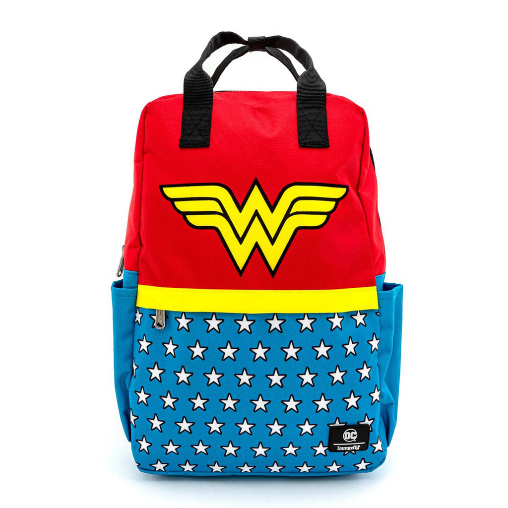 Loungefly DC Wonder Woman Vintage Nylon Square Backpack