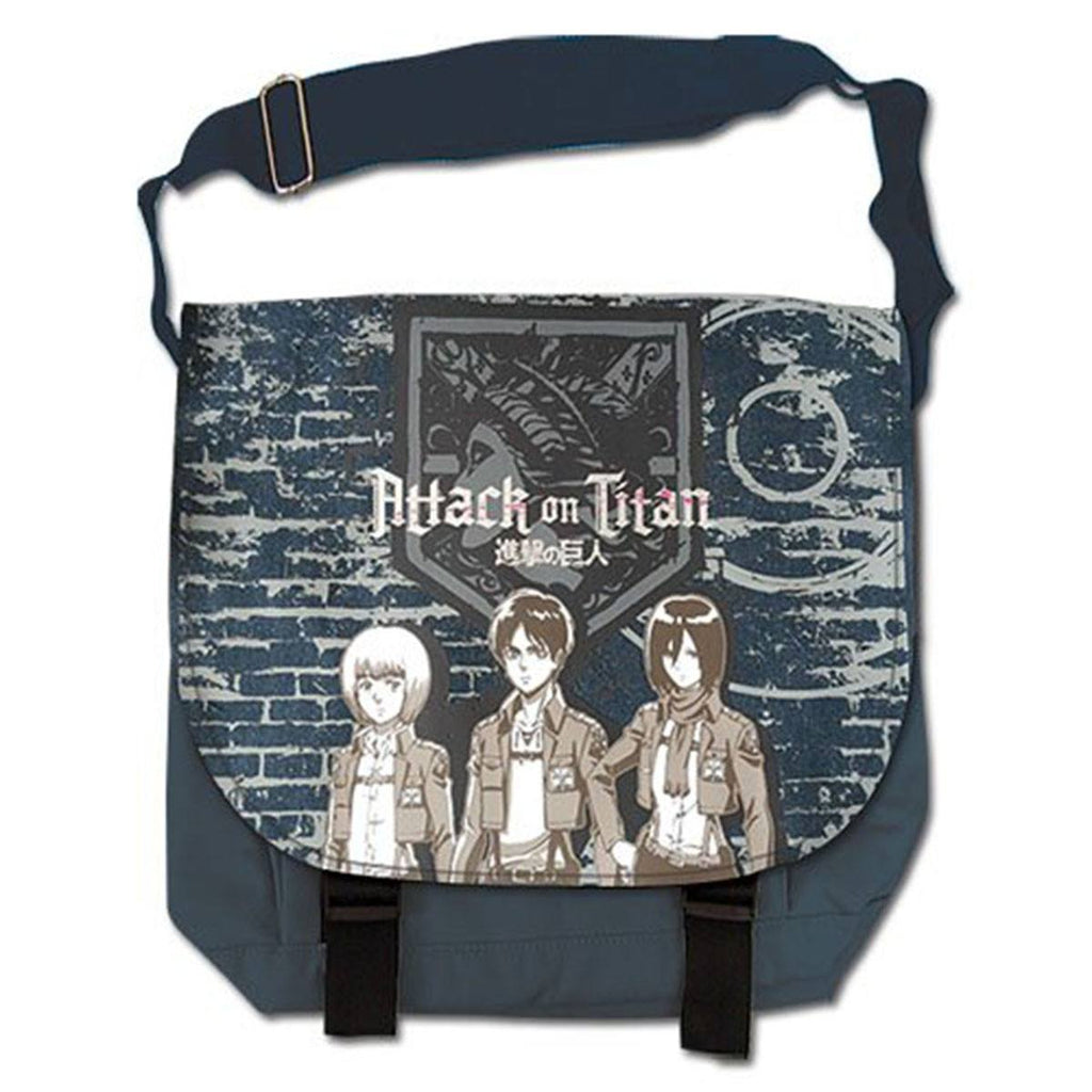 Attack On Titan Group And Wall Messenger Bag