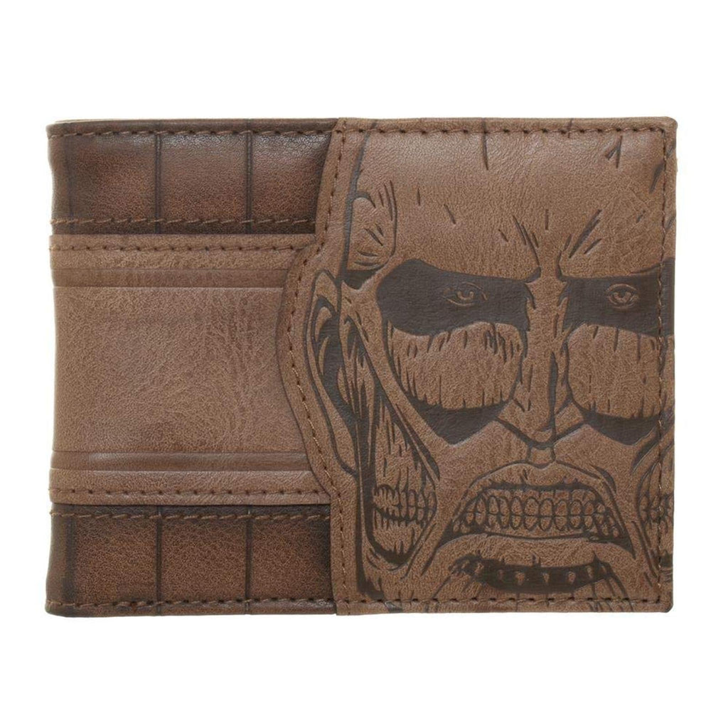Attack On Titan The Titan Brown Bi-Fold Wallet