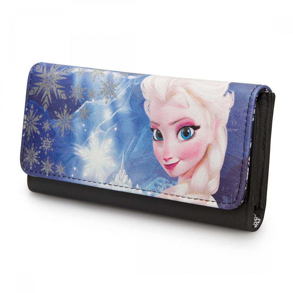 Disney Frozen Elsa Photo Real Canvas With Faux Leather Wallet