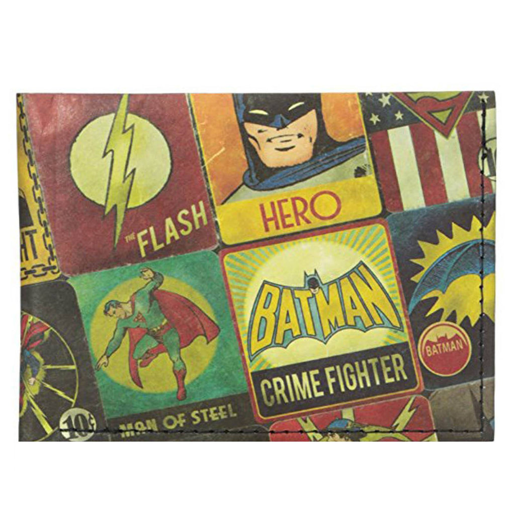 Dynomighty Justice League Panels Bi-Fold Mighty Wallet - Radar Toys