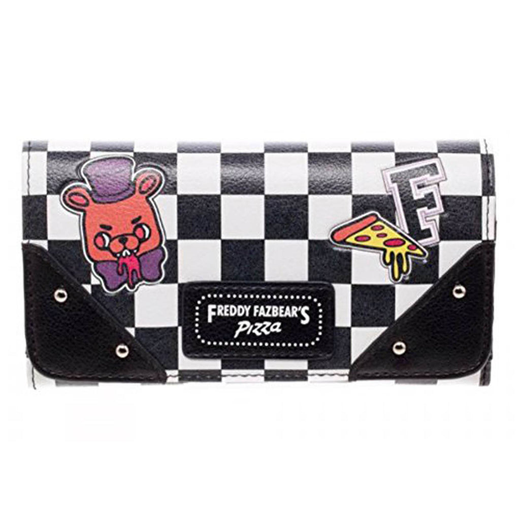 Five Nights At Freddy's Pizza Checkered Wallet