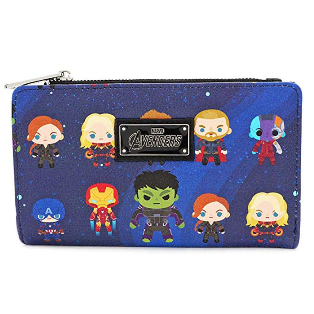 Loungefly Avengers Endgame Chibi All Over Flap Wallet