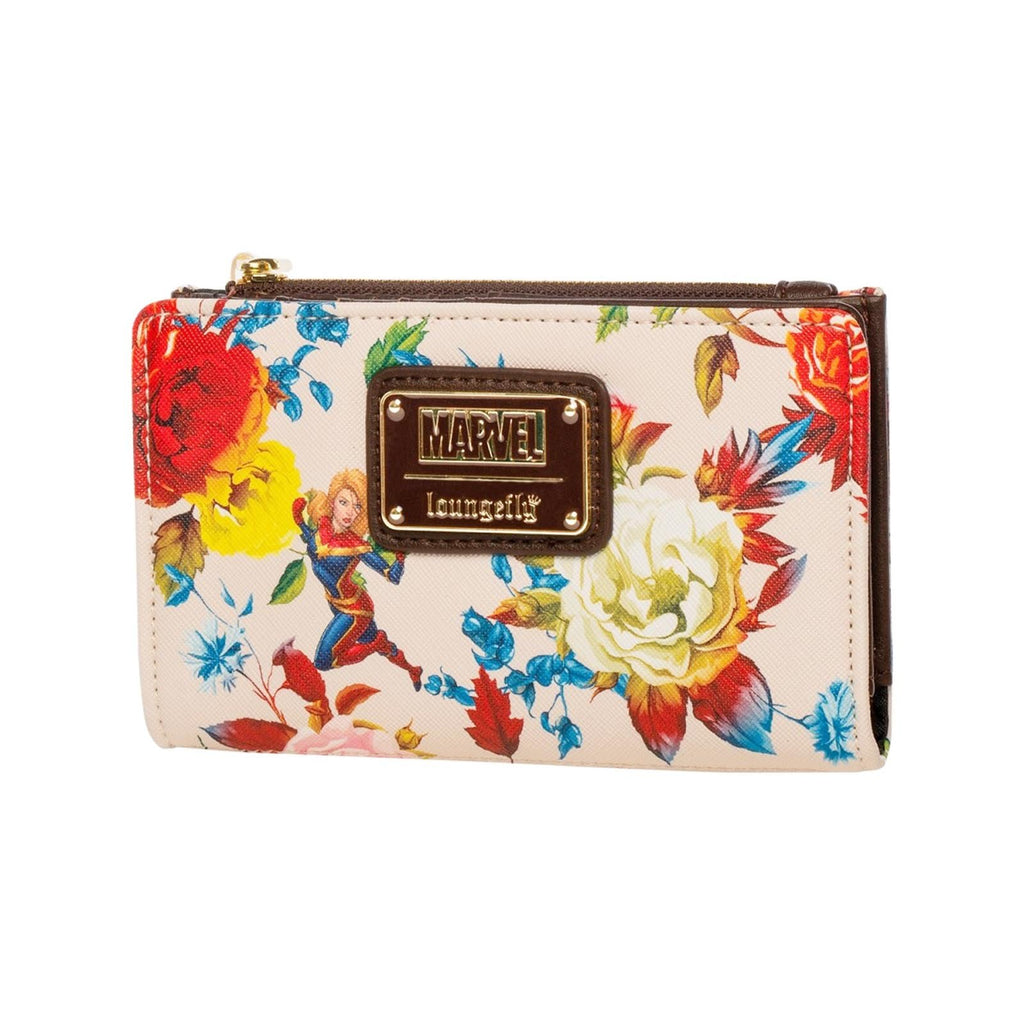 Loungefly Captain Marvel Floral Bifold Wallet
