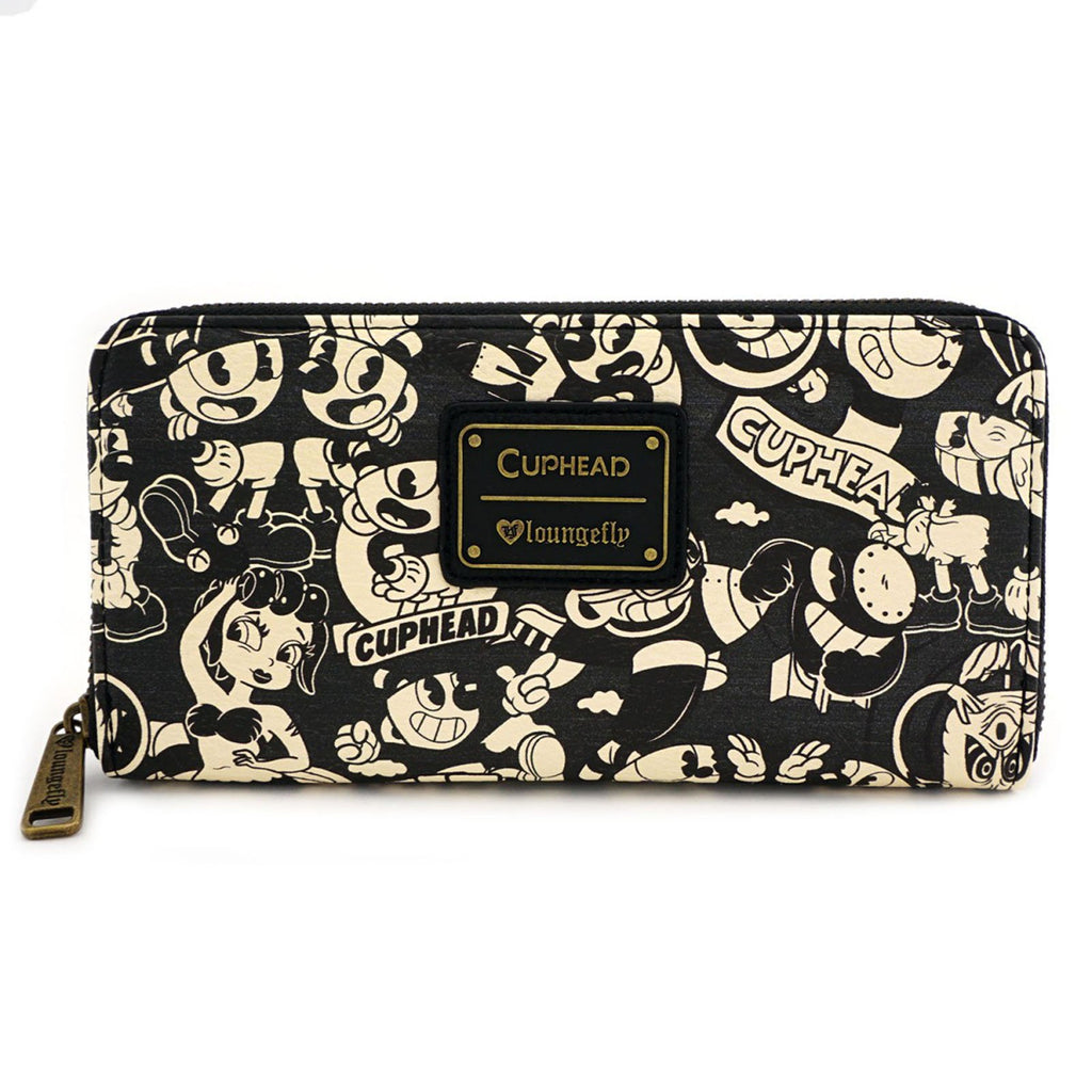 Loungefly Cuphead Sepia Tone Zip Around Wallet