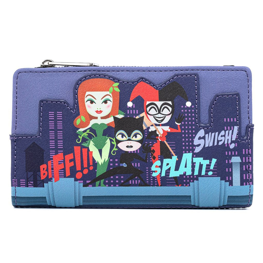Loungefly DC Comics Ladies Of DC All Over Print Wallet