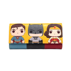 Wallets - Loungefly DC Comics Superhero Trio POP Wallet