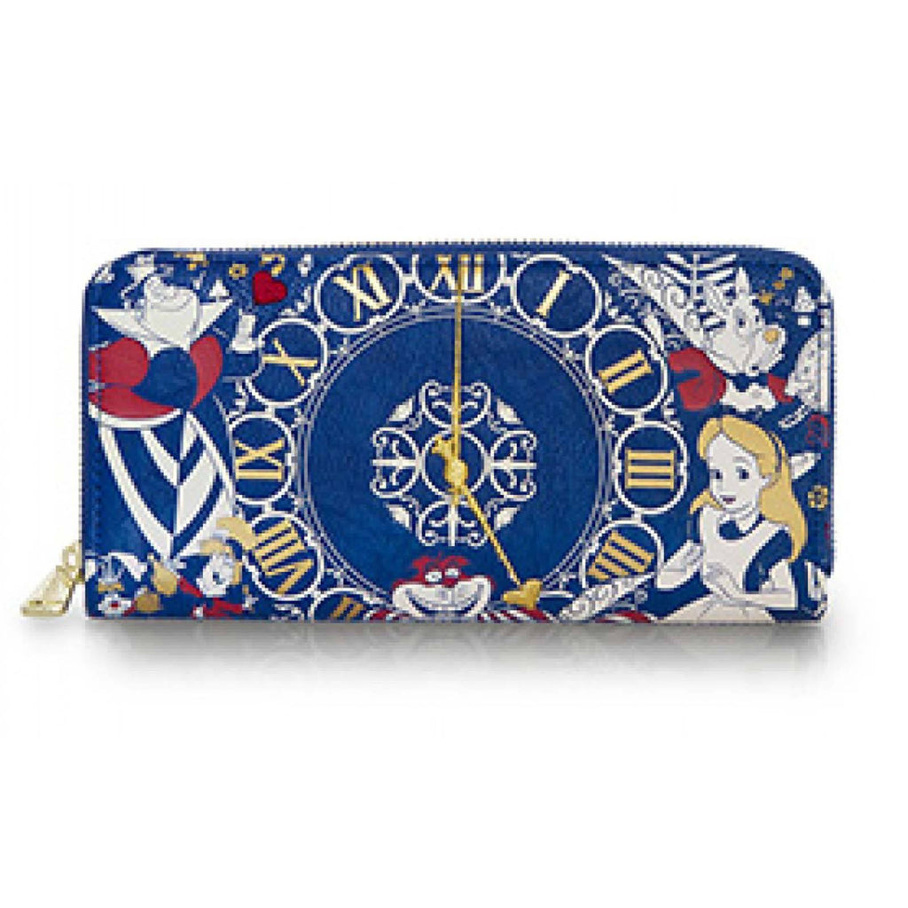 Loungefly Disney Alice In Wonderland Time Zip Around Wallet